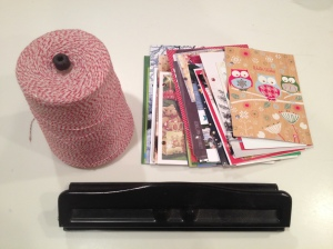 holiday card book supplies