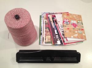 holiday card book supplies